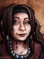 Self Portrait as a Tolkien Dwarf-Lady by Annie-Stuart