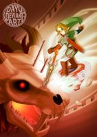Zelda: Link vs. Stallord by Dayu