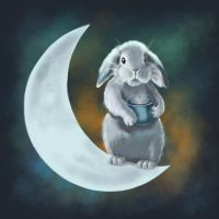Moon rabbit by ElenaNaylor