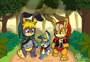 Pooka Family by Coshi-Dragonite