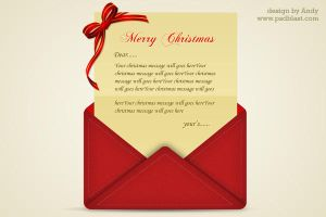 Christmas greetings letter PSD by psdblast