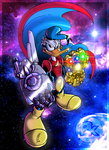Pk (Duck Avenger) with infinity glove by Paritos