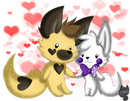Snowy x Landy .:Art Trade:. by Amanddica