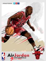 NBAStickers Michael Air Jordan Chicago Bulls by akyanyme