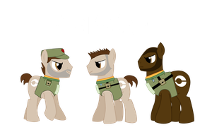 Ponyzone : Garza, Sevchenko, and Rico by ShadyHorseman