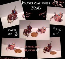 My little polymer ponies XD by ElectrikPinkPirate