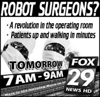 Robot Surgeons Newsprint Ad by PatrickJoseph