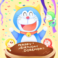 9/3 HAPPY BIRTHDAY Doraemon! by Connielin718