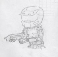 Master Chief Chibi by crocrus