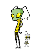 Invader Dazzle and Squeaky by LonelyAardvark