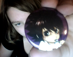 Look at my adorable L badge! by ZombieGirlHunter