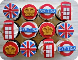 British Themed Cupcakes by cake4thought