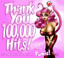 Fumie's thanks for 100k vists by GraphicBrat
