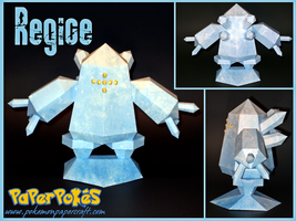 Regice Papercraft by Skeleman