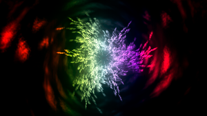psychedelic wormhole by uxyd
