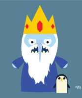 Almost Daily Characters: The Ice King (and Gunter) by striffle