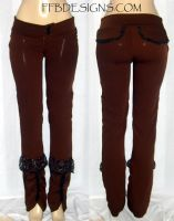Brown boot-cut pants by funkyfunnybone