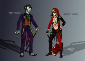 Joker And Harley Primary by MrGwynplaine