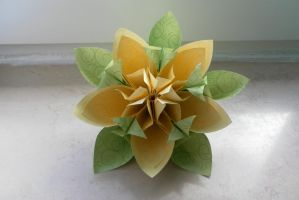 Spring Origami Flower by fleecyblue