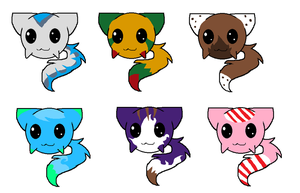 3 Point themed adoptables!!! by RinaTheKitty