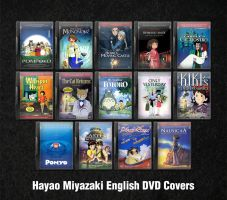 Miyazaki English DVD Icons by fruit4dinner