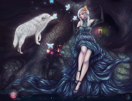 Ethereal Artbook ~ Tranquil Forest by serafleur