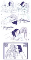 OpheliaxJohn - Lovers Sketches 3 by RedPassion