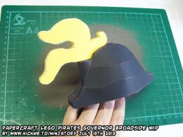 Papercraft LEGO Triple Feather Plume WIP! by ninjatoespapercraft