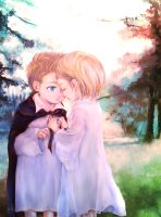 aph (chibi) DenNor in the Forest by 10-shiki