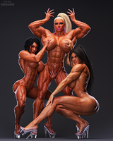 Muscle Triple Threat by Siberianar