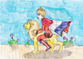 Netherland's lion (contest) by Dutch-Loves-Tulips94
