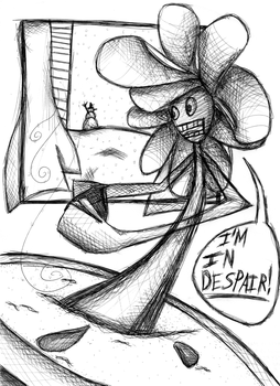 Flower in Despair by Giver