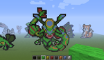 rayquaza - minecraft pixel art by Rest-In-Pixels