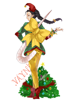 Merry Christmas with Vayne by cyblix