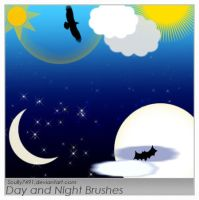 Day and Night Brushes by Scully7491
