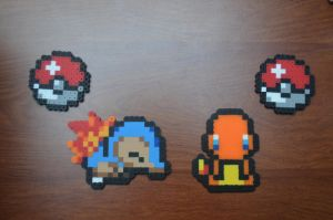 Charmander vs Cyndaquil by CraftDragons