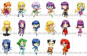 Slayers CHIBI stickers by piku-chan