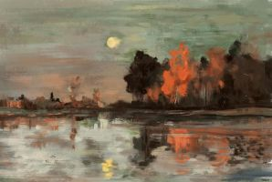 Isaac Levitan Study 1 by FelFortune