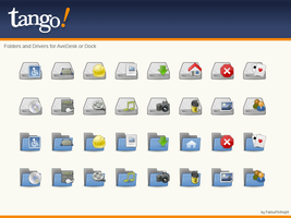 Tango Dock AveDesk Icons by FabiusMcKnight