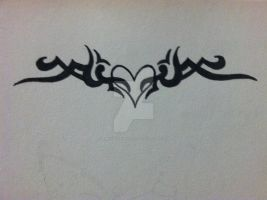 Celtic Heart Tattoo Design by thelinesthattied