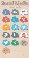 Social Media Icons by vintign