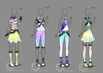 Pastel Outfit Adopts #2 - sold by Nahemii-san