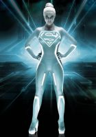 Supergirl ala Gem from Tron by IGMAN51