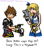 Sora Meets Lucy by AnotherSasukeFan
