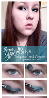 Turquoise and Copper Tutorial by yay-party