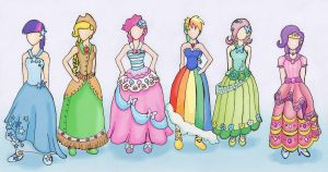 Mlp At The Gala Outfits Color by Saegigmon