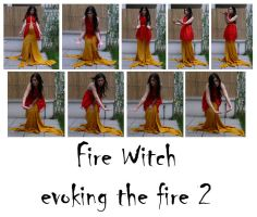 fire witch evoking the fire 2 by syccas-stock