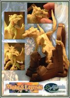 'Myths and Legends' Dragon Sculpture 3 by Carl-Seager