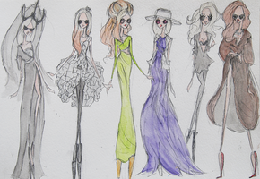 Gaga - 2012 Outfits I by LL0ND0N