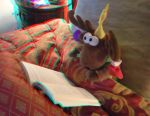 Rosco Reading in Bed 3D by jhmart1